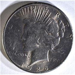 1928 PEACE DOLLAR, CH BU
