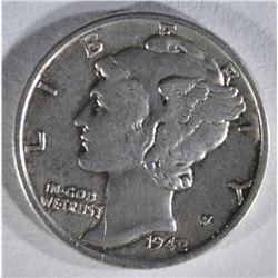 1942/1 MERCURY DIME  CH AU