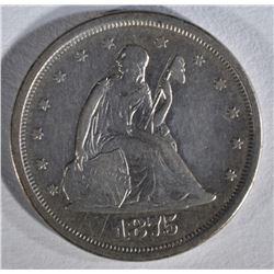 1875-S SEATED LIBERTY TWENTY CENT PIECE  XF-AU