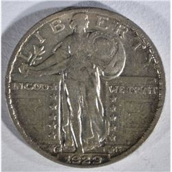 1929-S STANDING LIBERTY QUARTER  XF/AU
