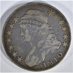 1810 CAPPED BUST HALF DOLLAR  VF
