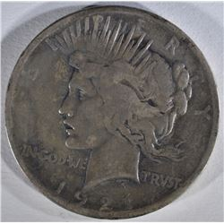 1921 PEACE DOLLAR VG CLEANED
