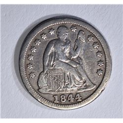 1844 SEATED LIBERTY DIME  VF