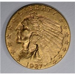 1927 $2 1/2 GOLD INDIAN HEAD