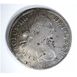 1806 MEXICO 8 REALES chopmarked