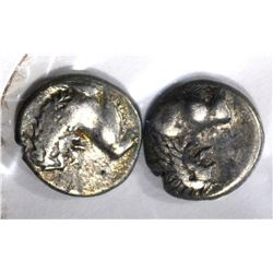 2-GREEK CHERSONESOS THRACE SILVER COINS400-350 bc