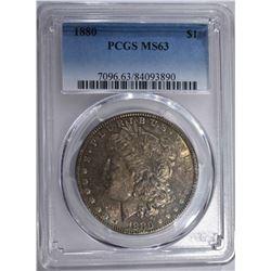 1880 MORGAN DOLLAR PCGS MS63