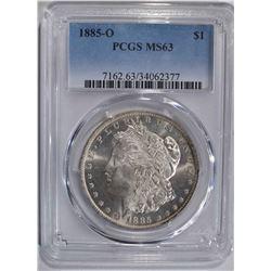 1885-O MORGAN DOLLAR PCGS MS63