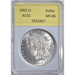 1902-O MORGAN DOLLAR ACGS GRADED