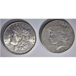 1900 BU MORGAN DOLLAR & 1935-S