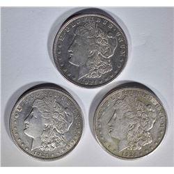 3 - 1921 S MORGAN DOLLARS CIRC
