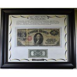 1917 $1 LEGAL TENDER in FRAME CIRC