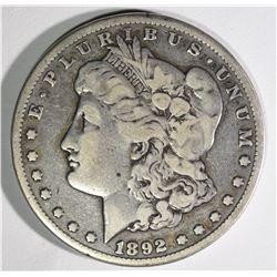 1892-CC MORGAN DOLLAR F/VF