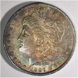 1897 MORGAN DOLLAR BU TONED OBV