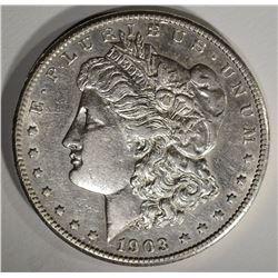 1903-S MORGAN DOLLAR AU+ KEY DATE