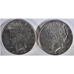 1923-S BU & 26-S AU PEACE DOLLARS
