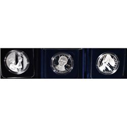 3 PROOF SILVER DOLLARS