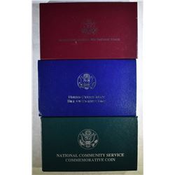 (2) 2-COIN PROOF SETS & (1) 1996 SILVER $