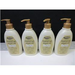 4 New Moroccan Argan Oil Lotion / 12floz pump bottles