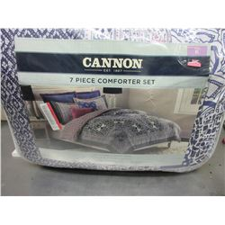 New Cannon King size 7 piece Comforter set / cotton rich easy care