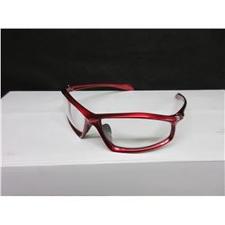 4 New XP-650 Red frame Clear lense Safety Glasses