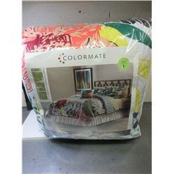 New Full 5 piece Comforter  Bed set / Tropical Hummingbird