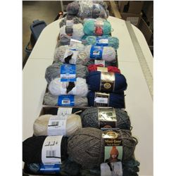 WOW! 50 Skeins of Assorted New Yarn / Well over $300.00 worth
