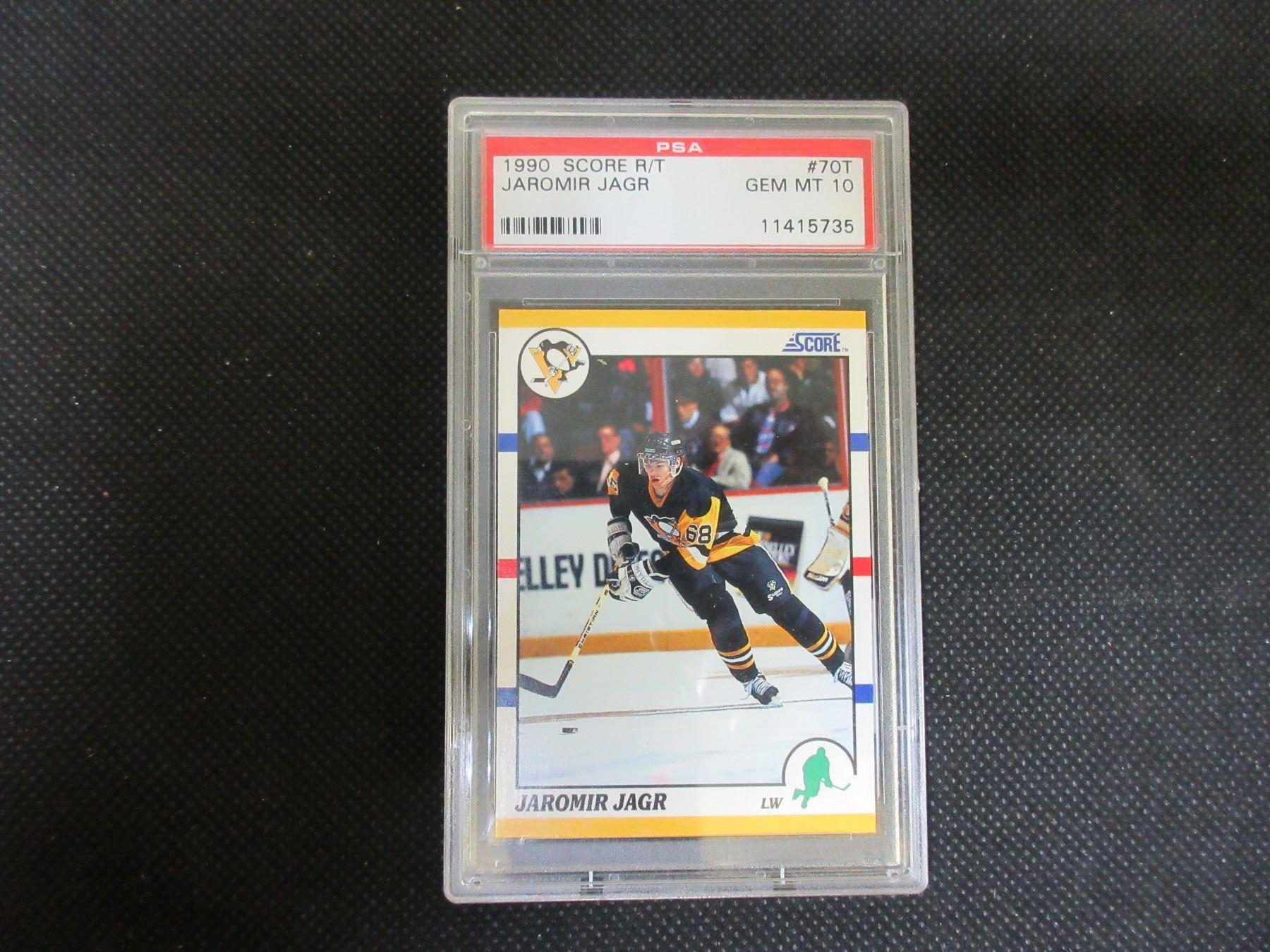 Jaromir Jagr Rookie Card 1990 70t Graded Gem Mint 10