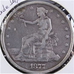 1877 U.S. silver trade dollar.