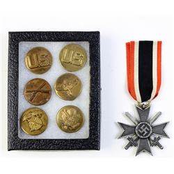 Collection of 7 includes German 1939 medal