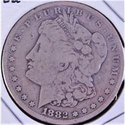 1882 Carson City U.S. silver dollar.