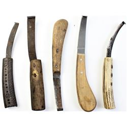 Collection of various hoof knives.