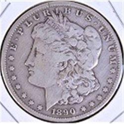 1890 Carson City silver dollar.