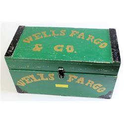 Wooden reproduction Wells Fargo trunk