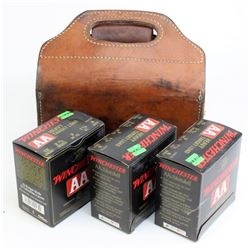 Leather 3 box shotgun shell holder