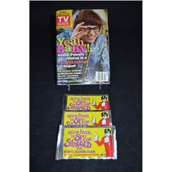 """Austin Powers"" - Collectible TV Guide & Tading Cards"