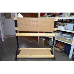 Rolling lumber cart