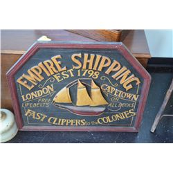 "Vintage ""Empire Shipping"" Sign"