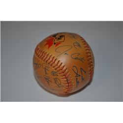 Collectible-Autographed Bluejays baseball
