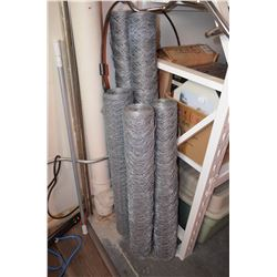 5 Rolls of Chicken Wire
