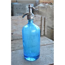 Vintage (Aqua) Seltzer Bottle