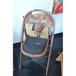 """Vintage """"Bullshit Chair"""""""