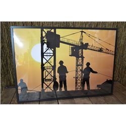 Construction Theme Framed Poster