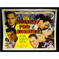 "Rare-Vintage 1952 Lobby Card ""Holiday For Sinners"""