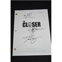 "Autographed Movie Script  ""The Closer"""