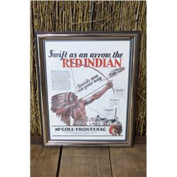 Framed Red Indian Advertising