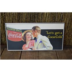Framed Coca-Cola Advertising