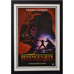 "ORIGINAL ""Revenge of the Jedi"" (1983) 1-sheet Poster - Version 2 (Dated)."