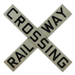 Original Railway Crossing Sign