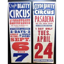 2 Clyde Beaty Circus Posters
